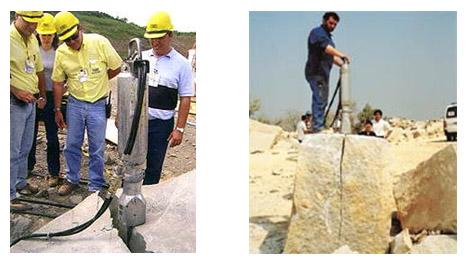 Расклинивание бетона растаскаем бетон